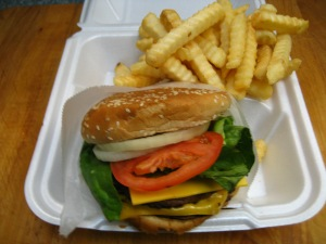 #7 1/2lb Masterburger, Fries & Drink $7.25