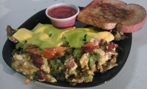 Made to order omelets.